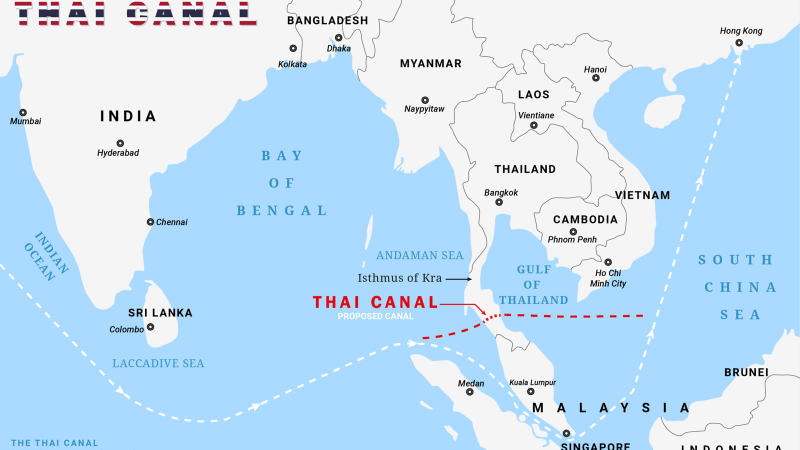 A canal across southern Thailand is still a distant dream for China