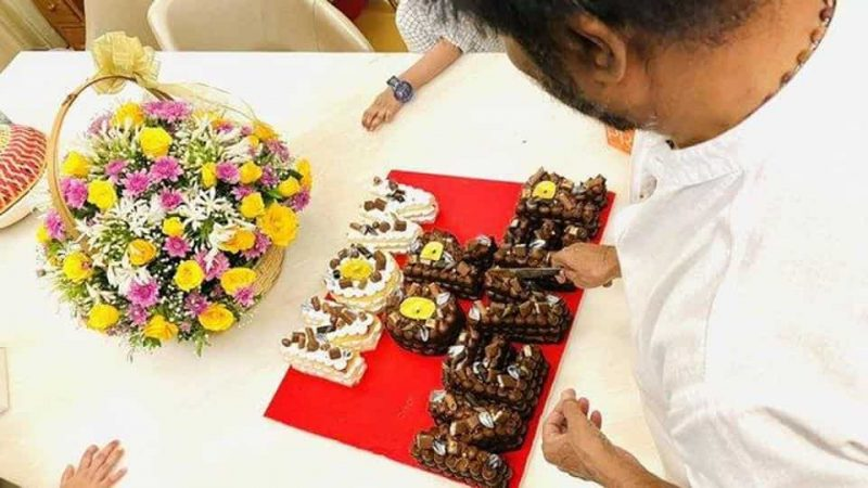 Rajinikanth's birthday cake spells out his political intent to those waiting